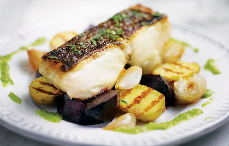 Fillet of hake with roast beets and pea dressing. Follow link for full recipe from appetite, North East England's dedicated food & drink publication.