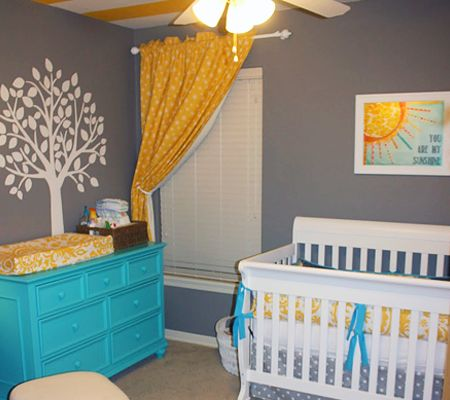 You Are My Sunshine - Modern Nursery Trend Watch: Gray & Teal | Disney Baby