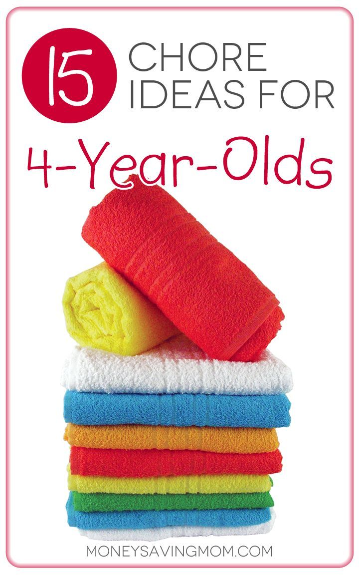 15 Chore Ideas for 4-Year-Olds : love these practical ideas for teaching your children to enjoy doing chores. Plus, some chore ideas you may not have thought of assigning to a young child. Great list!