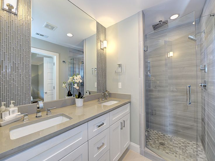 Glass Tile And Stone Bathroom: 7 Best Images About Master Bath Tile On Pinterest