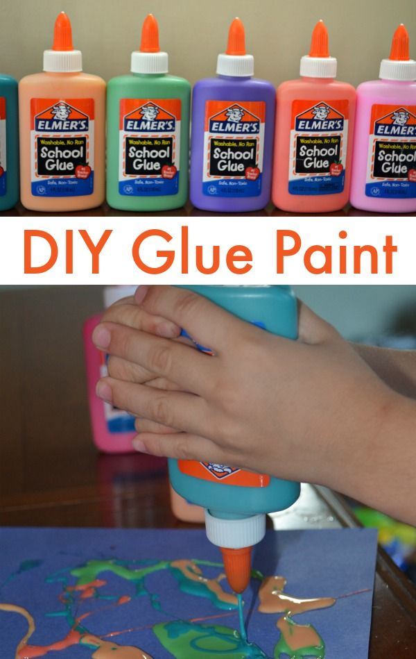 DIY Glue Paint! Easy to make and so many fun ways to use it with your crafts!