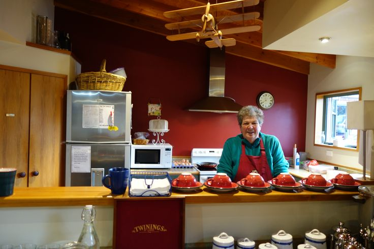 Here is Cheryl waiting to cook your delicious breakfast!!!  Coffee is brewed and you will have a wonderful friendly start to the day!