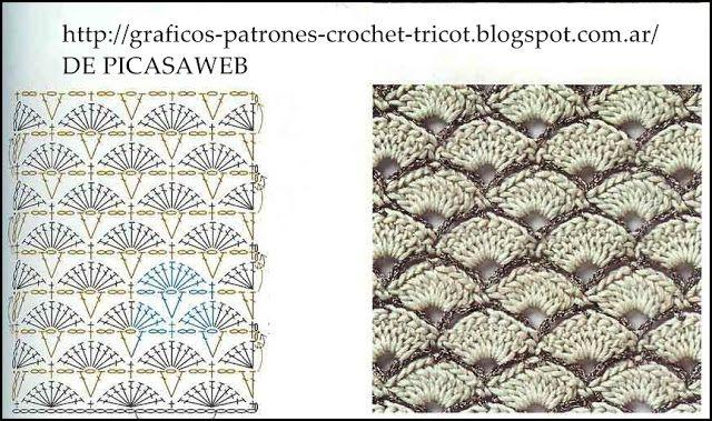 PATRONES=GANCHILLO = CROCHET  = GRAFICOS =TRICOT  = DOS AGUJAS: POINTS…