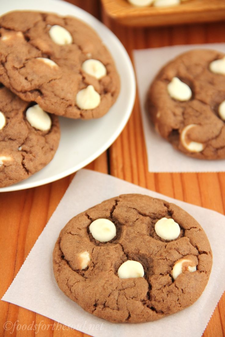 White Chocolate Nutella Cookies -- super soft, extra chewy, and secretly healthy!