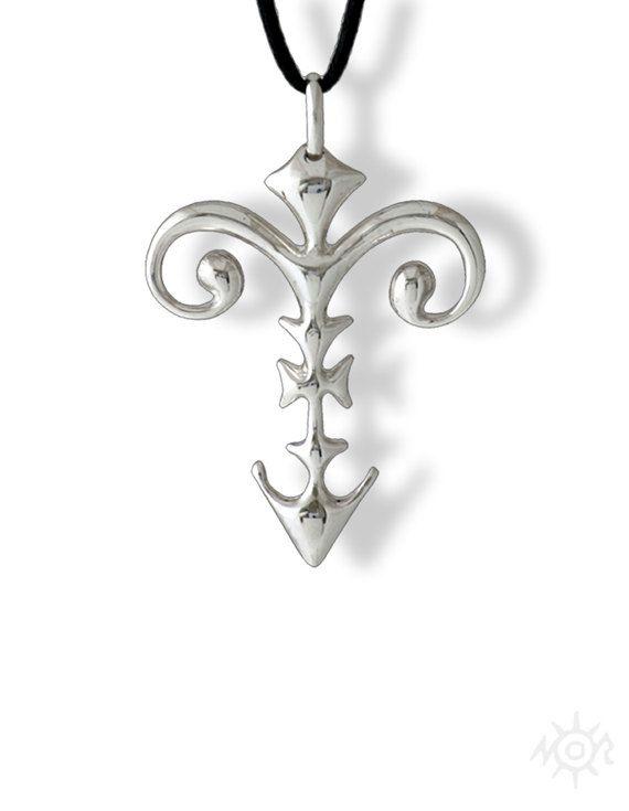 Collana con Ciondolo Croce in argento sterling 925 dallo stile etnico tribale - Celestiale Pendente Croce