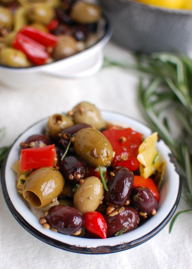 Lemon Marinated Olives Recipe Marinated Olives Healthy Appetizer Recipes Recipes