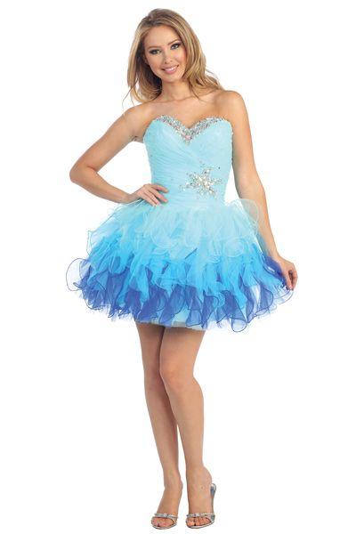 Ombre Short Formal Dresses