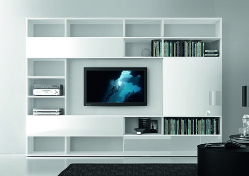 clean modern wall unit