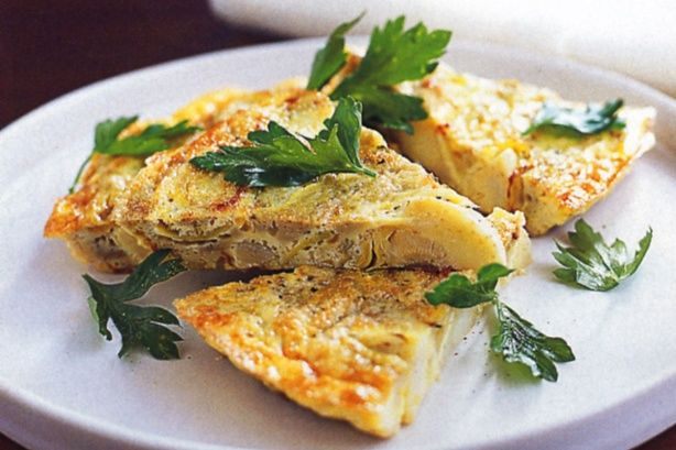 Tender herb-marinated artichokes give this vegetarian frittata a full-bodied flavour.