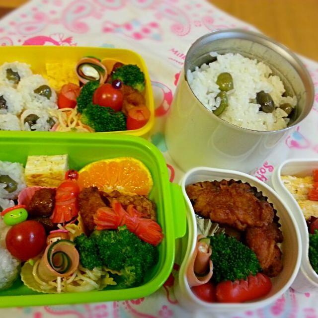 黒枝豆さん、ありがとうございました☆ - 11件のもぐもぐ - 代わり映えしない中にも丹波黒枝豆ご飯弁当 by miwakichi555