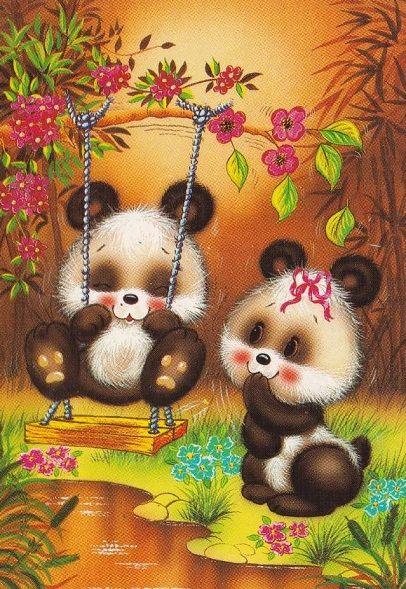 Ursinhos no balanço