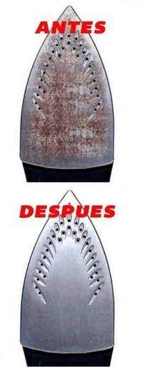 Este truco limpia tu plancha quemada y la deja como salida de fábrica. #limpiar #plancha #quemada