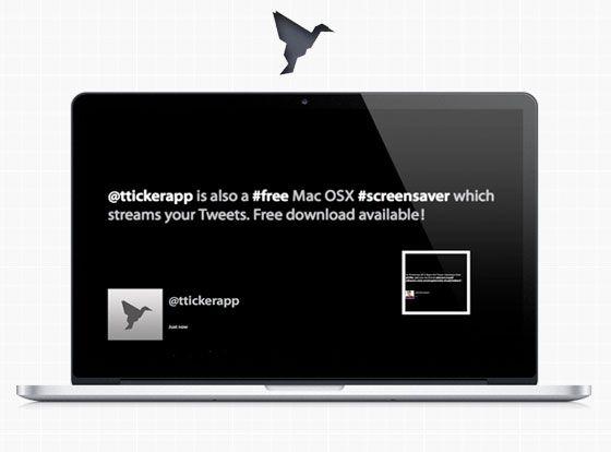 TwitterTicker, beautiful Twitter screensaver for Mac OSX. / #free