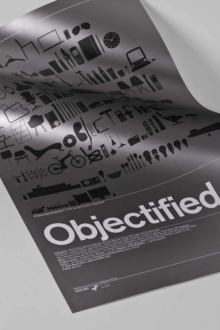 Poster design reference - Poster He Did For The Film Objectified Items On The Poster Relates To The Title Itself And He Used The Font Helvetica