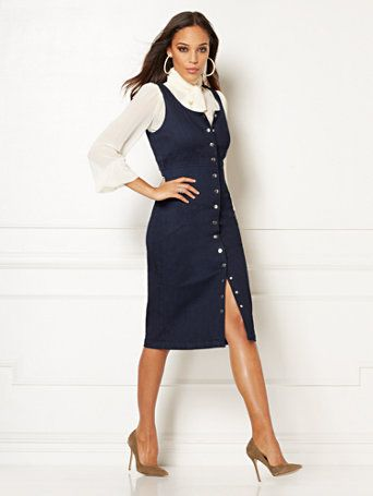 16ddd8c7381 Shop Eva Mendes Collection - Norah Denim Sheath Dress. Find your perfect  size online at the best price at New York   Company.