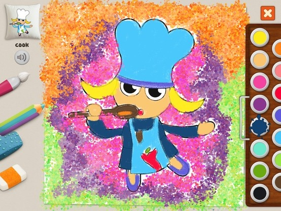 """Cook"" #memollow #painting #kids Free Joy #coloring"
