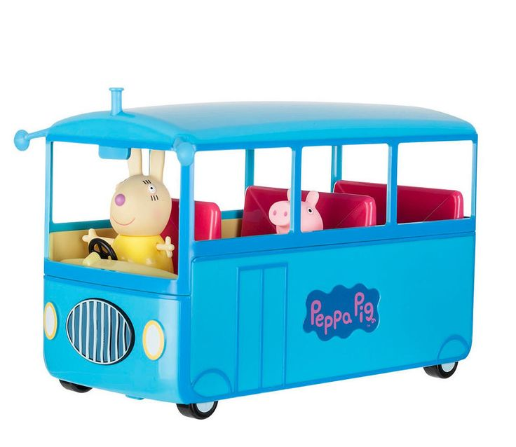 Every school day is full of new educational, entertaining activities, but they all start out the same way! Head to the bus stop with Peppa Pig to catch a ride to school on Miss Rabbit's bus with this
