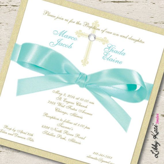 14 best First communion images on Pinterest First holy communion - sample baptismal invitation for twins