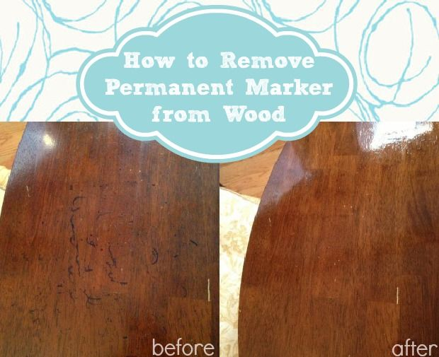 Trick to easily remove permanent marker from wood.