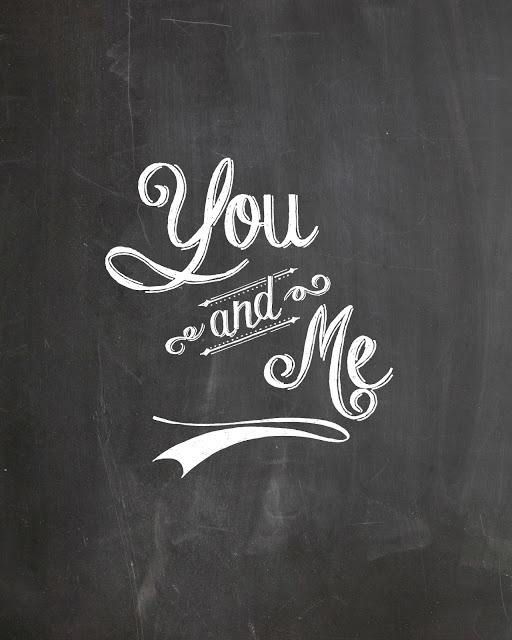 """Love the """"You & Me"""" sign, perfect for so many sweet little spots around the wedding, or afterwards, at home"""