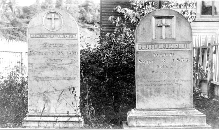 BC Archives - Item A-01640 - The graves of Dr. and Mrs. John McLoughlin in Oregon City, Oregon.