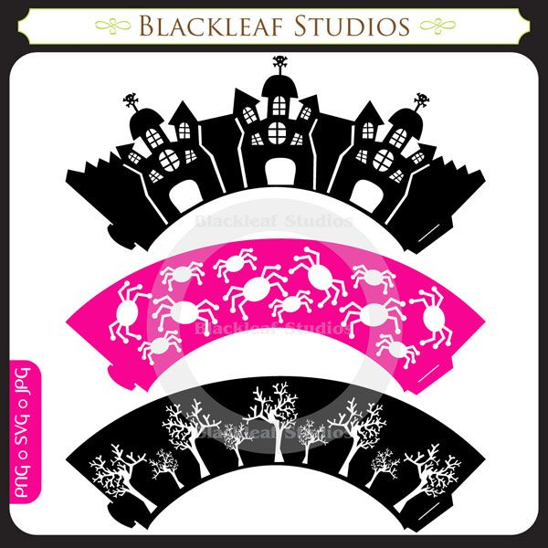 trick or treaters silhouette | Valentine Cupcake Wrappers – SVG Cutting Templates …