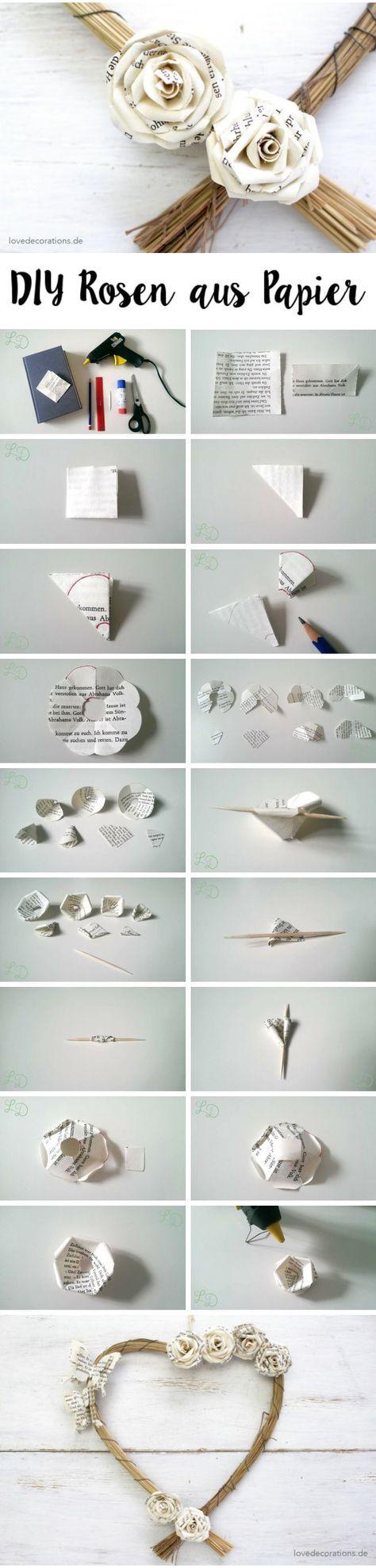 DIY Rosen aus Papier //  DIY Roses made of Paper