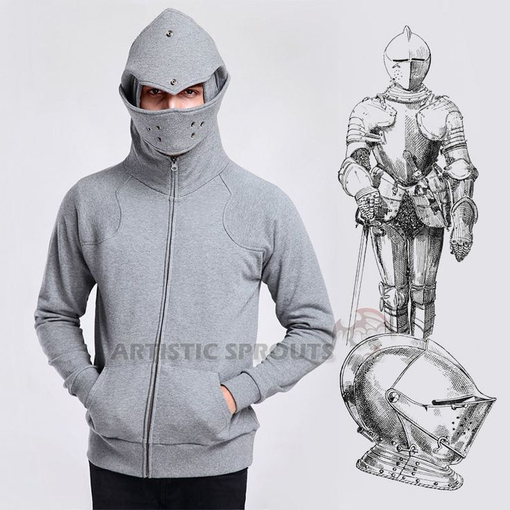 Arthur Knight Medieval Cosplay Armor  Cotton Pullover Hoodie
