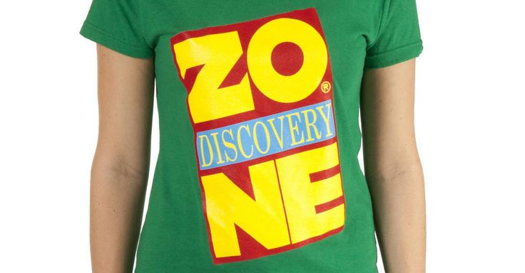 Ladies Discovery Zone Shirt made by 80sTees.com in collections: Br& Icons: Discovery Zone, & Department: Adult Juniors, & Color: Kelly Green