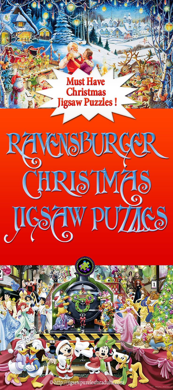 Ravensburger Christmas Jigsaw Puzzles are perfect hobby for the holidays or anytime of the year. Ravensburger jigsaw puzzles are high quality and you can choose from a wide variety of jigsaw puzzles for adults and kids. These puzzles are ideal for the whole family.