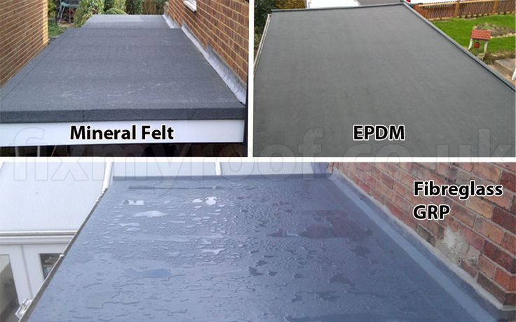 Flat roof solutions choices