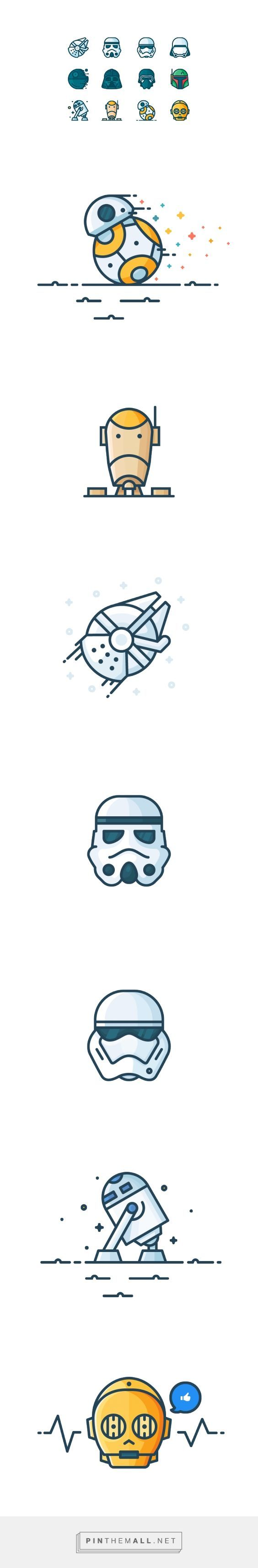 Outline Star Wars Icons on Behance {cT}
