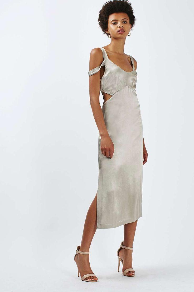 Cold Shoulder Cut-Out Midi Dress - Topshop