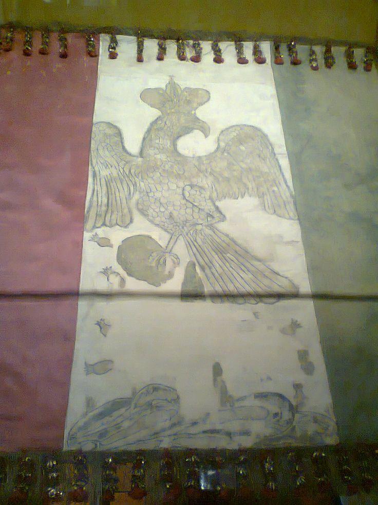 Bandera con el águila imperial de Agustín de Iturbide.