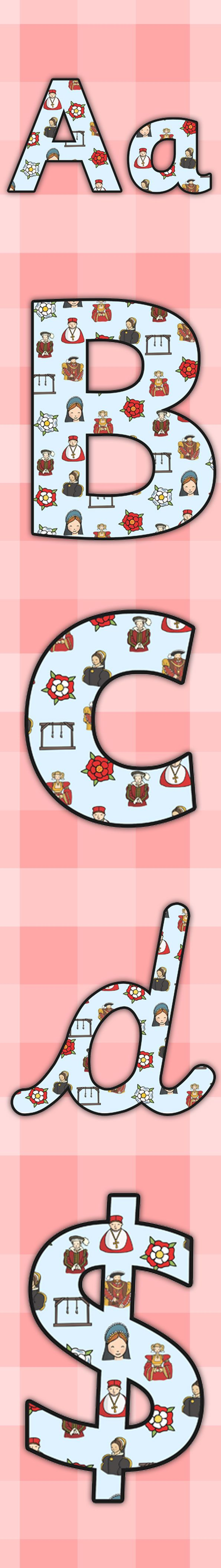 Twinkl Resources >> The Tudors Display Lettering >> Printable resources for Primary, EYFS, KS1 and SEN.  Thousands of classroom displays and teaching aids! Topics, The Tudors, History, Display, Classroom, Lettering