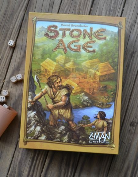 Stone Age, a really fun board game where you control a tribe that you send out to gather resources, build huts, and expand your tribe.
