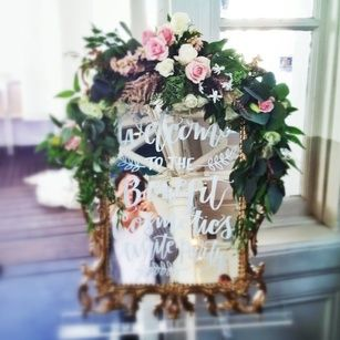 Floral Accents for Welcome Board by The Floral Loft