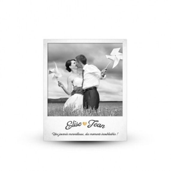 carte de remerciement mariage polaroid rtro cadeau de remerciement par printyourlove - Montage Photo Remerciement Mariage
