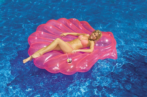 seashells pictures | Inflatable and glamorous SeaShell Island Lounger! Complete with dual ...