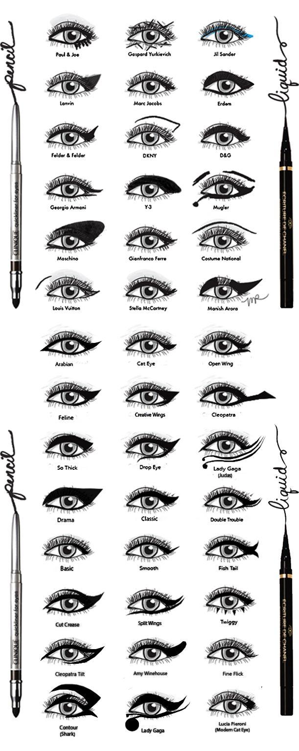 Eyeliner Styles by DamnBlackHeart.deviantart.com on @deviantART