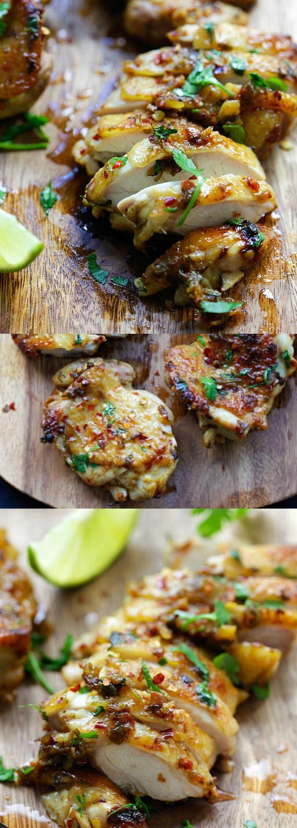 Cilantro Lime Chicken – juicy, moist chicken marinated with cilantro, lime and garlic. Pan-fry, bake or grill the chicken with this easy recipe | rasamalaysia.com