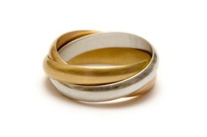Traditional Russian wedding jewelry includes a plain gold ring and a unique three band ring. Selecting a Russian ring can have special meaning to a couple who wants to celebrate their heritage, admires Russian culture, or likes the unique design of the intertwined bands.