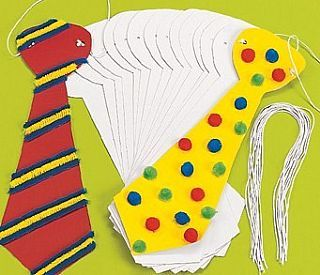 24 Jumbo Design Your Own Ties, childrens crafts, children's craft supplies