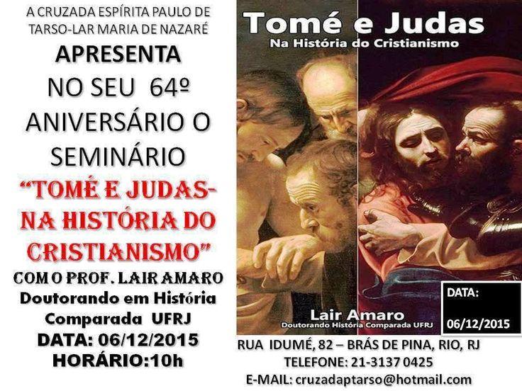 A Cruzada Espírita Paulo de Tarso - Lar Maria de Nazaré Convida para o seu 64º Aniversário - Brás de Pina - RJ - http://www.agendaespiritabrasil.com.br/2015/11/30/a-cruzada-espirita-paulo-de-tarso-lar-maria-de-nazare-convida-para-o-seu-64o-aniversario-bras-de-pina-rj/