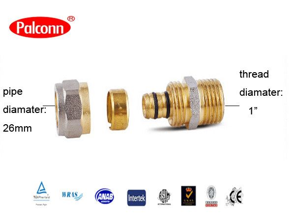 """Find More Pipe Fittings Information about 2015 Hot Sale Coupling  fittings Pipe Plastic Brass Copper forged pipe Fittings PEX AL PEX 20x3/4""""mm Palconn PL38,High Quality fitting stainless,China fitting tool Suppliers, Cheap fitting jeans from Weifang Palconn Plastics Technology Co., Ltd  on Aliexpress.com"""