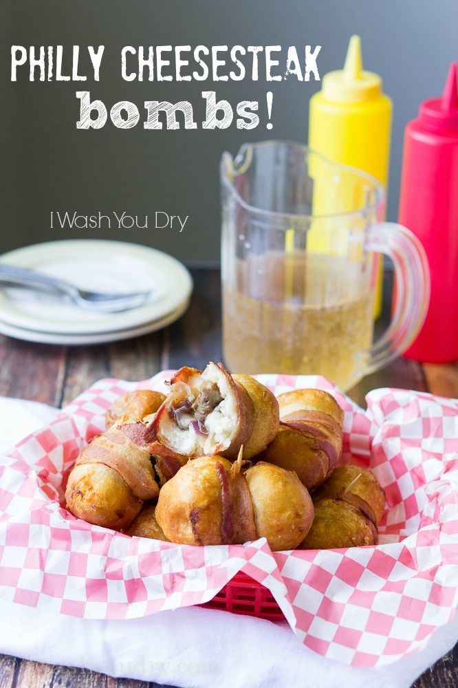 Philly Cheesesteak Bombs - ULTIMATE Super bowl recipe! The best game day food ever, bar none.