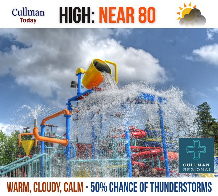 """CULLMAN COUNTY WEATHER Monday May 29 2017  A WEEK OF UNSETTLED WEATHER AHEAD - High 80°  TODAY: Cullman County weather will be unsettled with cloudy skies keeping the temperature around 80°. Winds will be calm picking up to 5 mph from the southwest later this morning.  We also have a 50% chance of showers and thunderstorms with up to 1/4"""" of rain possible (rainfall amounts higher under thunderstorms)"""