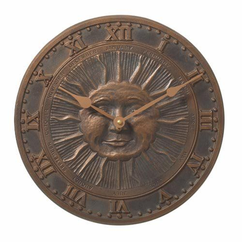 Sunface 12 in. Outdoor Wall Clock | www.hayneedle.com