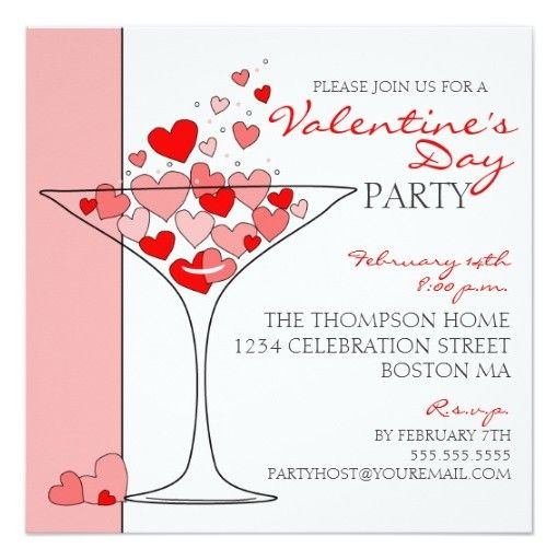 38 best Valentineu0027s Day Party images on Pinterest Valentineu0027s - valentines day invitations