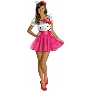 hello kitty tutu dress teen halloween costume - Teen Halloween Outfits